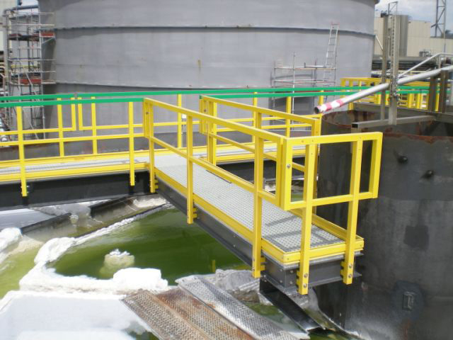 Corrosion Resistant Walkway in Chemical Plant