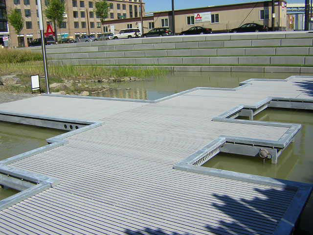 Pontoon Boardwalk Composite Decking Walkway